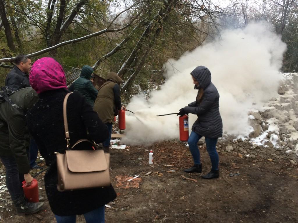 практическое применение огнетушителей